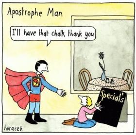 Apostrophe Man