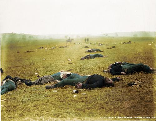 From http://civilwartalk.com/threads/colorized-photos-of-gettysburg-dead.25120/