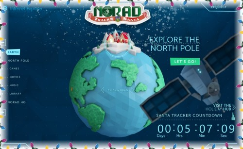 Click picture to go to NORAD's site