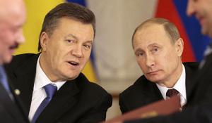 Ukrainian president Viktor Yanukovych (left) and Russian president Vladimir Putin.