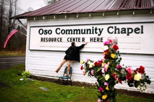 Tina Ray of the Oso Chapel. From the Seattle PI/Jordan Stead.