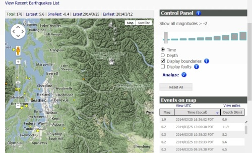 From the Pacific Northwest Seismic Network