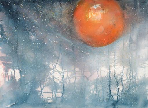 Lunar Eclipse by Robin Samiljan. From fineartamerica.com.