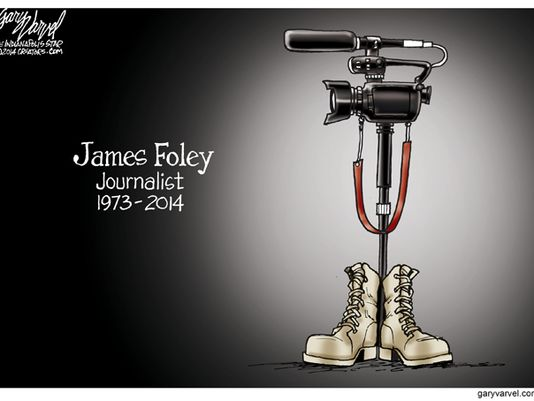 Gary Farvel, Indystar.com. Note that James Foley was formerly a reporter for the Stars and Stripes.