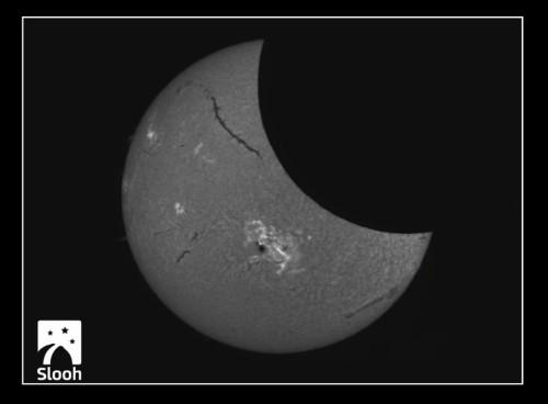 Slooh Solar Eclipse 10-24-14 1