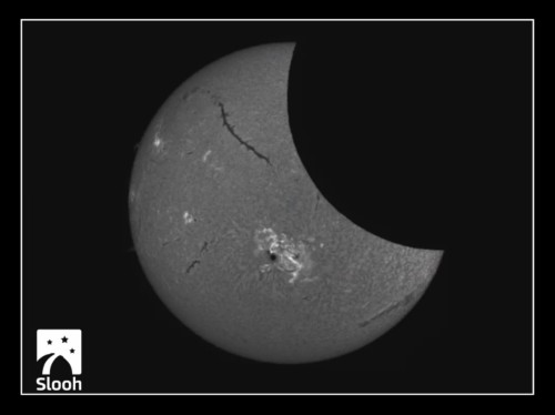 Slooh Solar Eclipse 10-24-14 2