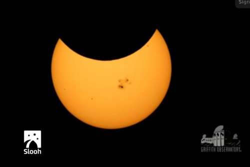Slooh Solar Eclipse 10-24-14 3
