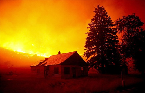 Wildfire near Twisp, WA. Erika Schultz/The Seattle Times via AP.