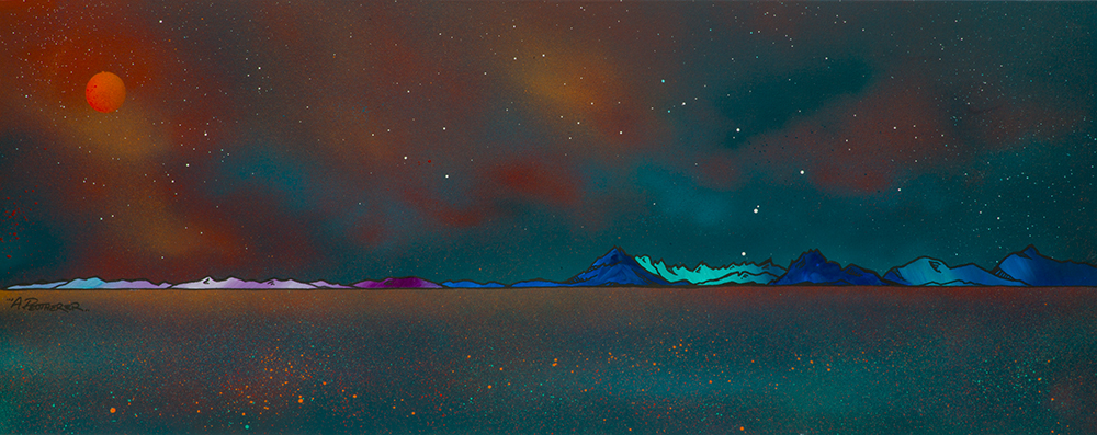 The Cuillin from Elgol, Loch Scavaig, The Isle of Skye, Scotland by Scottish Landscape Artist Andy Peutherer